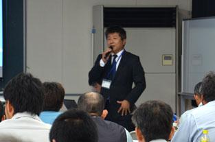 鹿児島県建設業青年部会曽於支部の「応用測量セミナー」にて講演写真1