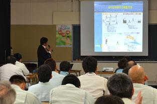 鹿児島県建設業青年部会曽於支部の「応用測量セミナー」にて講演写真2